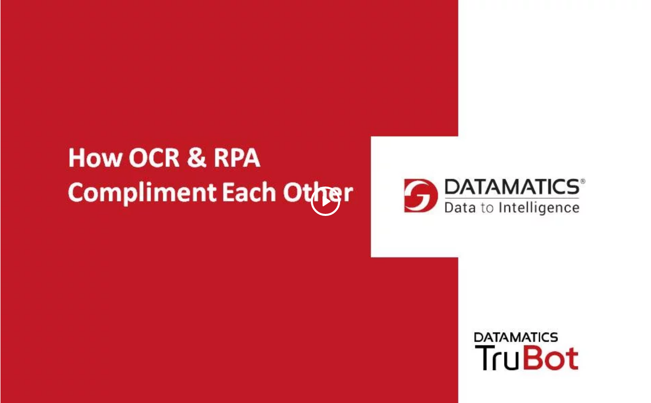 How OCR and RPA compliment each other
