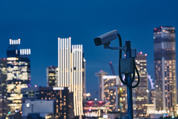 security-camera-against-urban-skyline